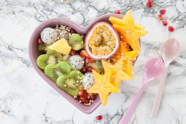 新鮮な エキゾチック フルーツサラダ 新鮮果物 サラダ 果物 ストックフォト © BarbaraNeveu