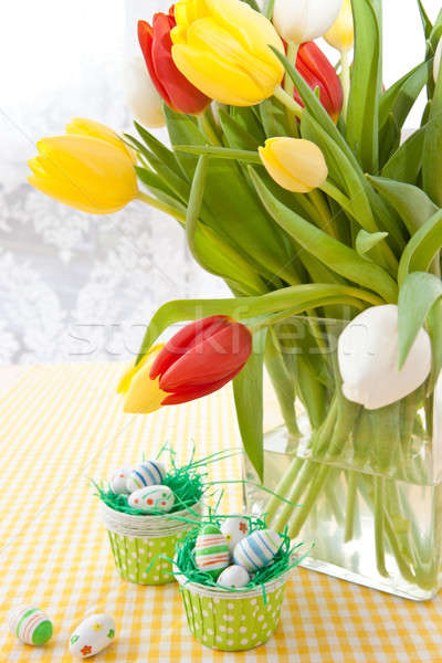 Fresh tulips for easter Stock photo © BarbaraNeveu