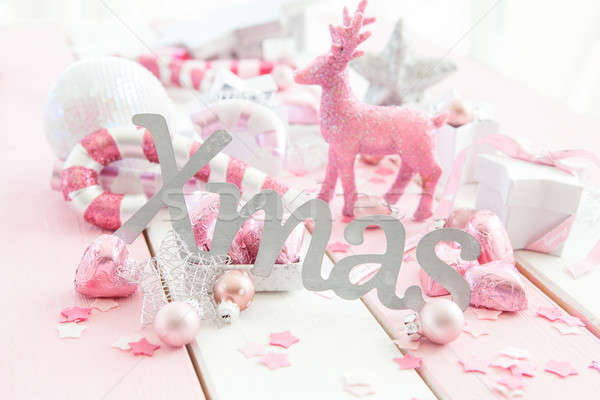 Pink christmas decorations Stock photo © BarbaraNeveu