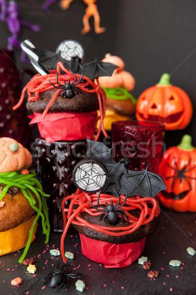 Színes csemegék halloween torták boldog jókedv Stock fotó © BarbaraNeveu