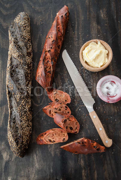Fraîches baguette beurre français rouge Photo stock © BarbaraNeveu