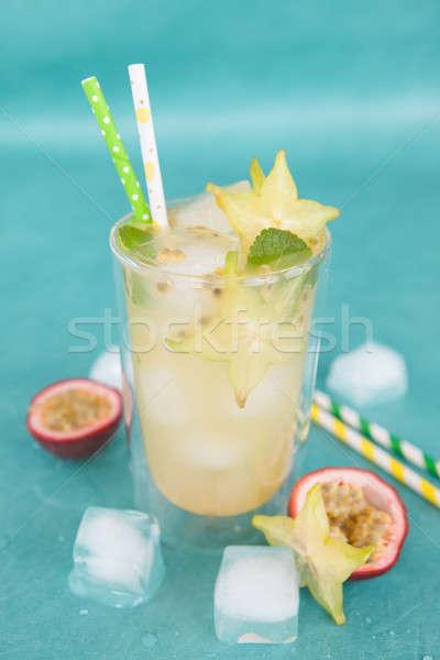 Cold cocktail with starfruit Stock photo © BarbaraNeveu