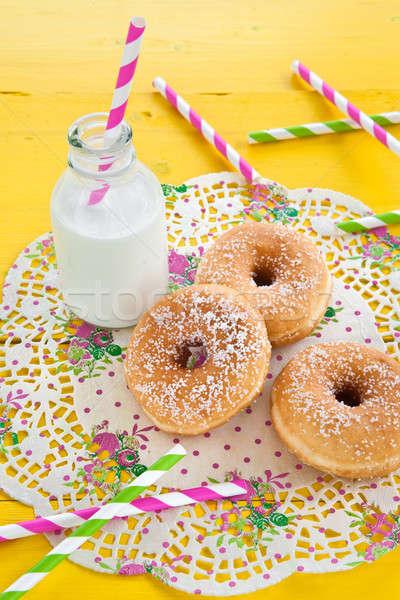 Milk and donuts Stock photo © BarbaraNeveu