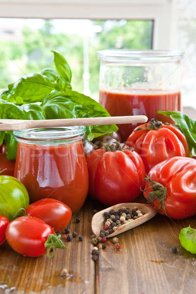 Stock photo: Homemade tomato sauce