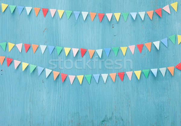 Colorful paper bunting Stock photo © BarbaraNeveu