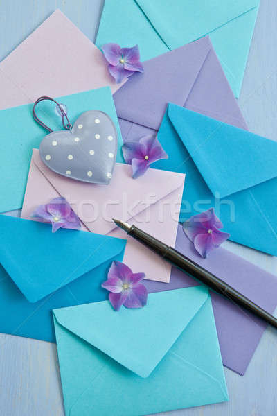 Stock photo: Multi colored envelopes and letters