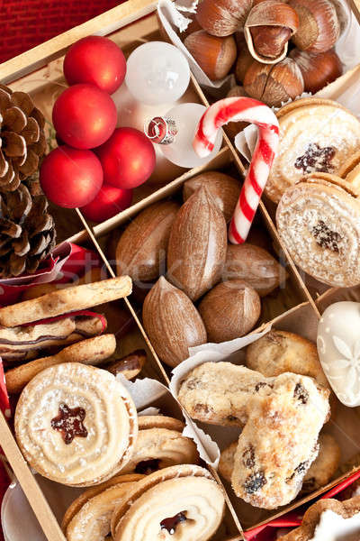 Cookies noten christmas tijd hart Stockfoto © BarbaraNeveu