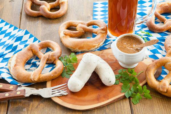 Bavarian white sausages Stock photo © BarbaraNeveu