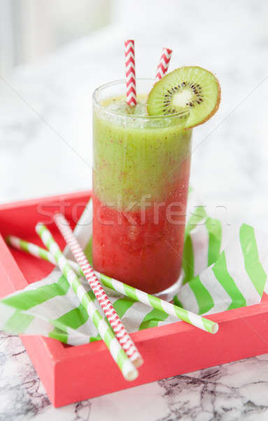 Stock photo: Smoothie made from a variety of fruits