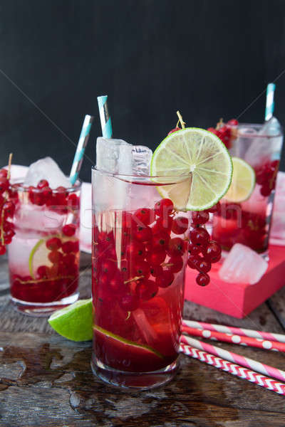 Cocktail with red currants Stock photo © BarbaraNeveu