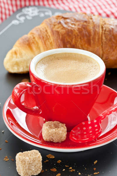 Cup of coffee and a croissant Stock photo © BarbaraNeveu