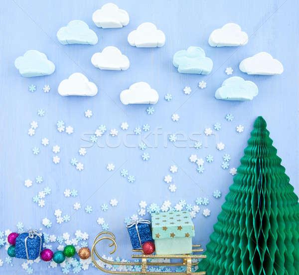 Nuage flocon de neige ciel alimentaire neige Photo stock © BarbaraNeveu