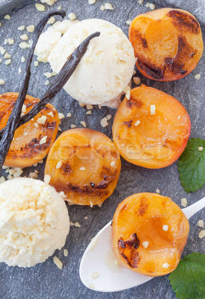 Grilled apricots with vanilla Stock photo © BarbaraNeveu