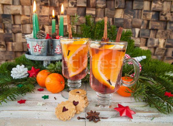 Hot beverage with orange Stock photo © BarbaraNeveu