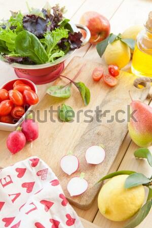 サラダ 新鮮な 材料 光 オーガニック 食品 ストックフォト © BarbaraNeveu