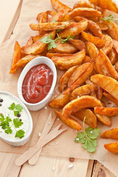 Vers aardappel zure room hout fast food Stockfoto © BarbaraNeveu
