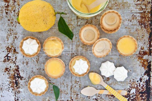 Little meringue lemon pies Stock photo © BarbaraNeveu