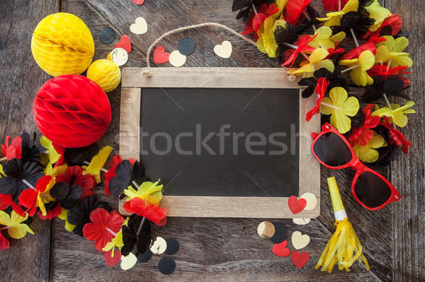 Rustic background with fan decorations Stock photo © BarbaraNeveu