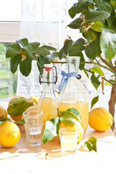 Stock photo: Homemade Limoncello