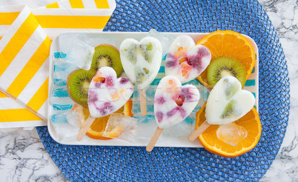 Homemade frozen popsicles Stock photo © BarbaraNeveu