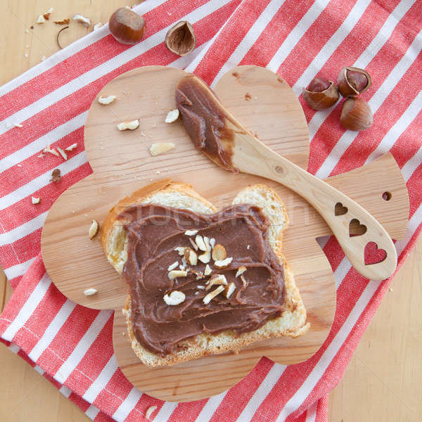 Brioche with homemade chocolate spread Stock photo © BarbaraNeveu