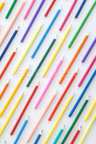 Colorful crayons in parallel lines Stock photo © BarbaraNeveu