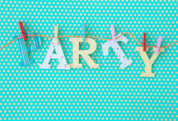 PARTY banner on polka dots Stock photo © BarbaraNeveu