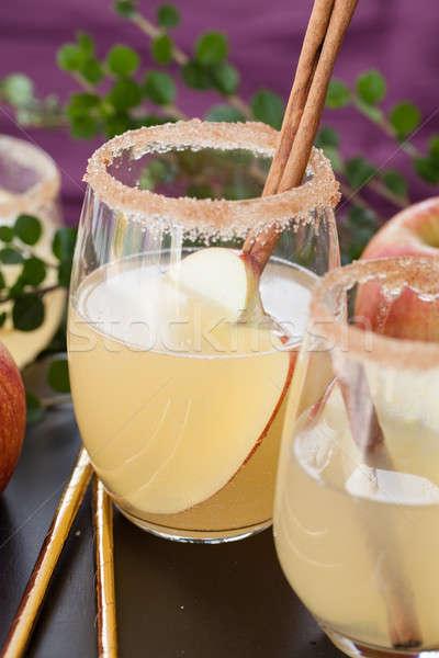 Fruit cocktail appel kaneel drinken najaar Stockfoto © BarbaraNeveu