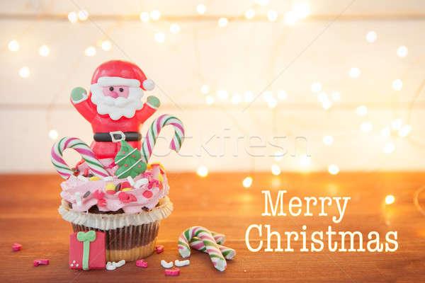 Little christmas cupcake Stock photo © BarbaraNeveu