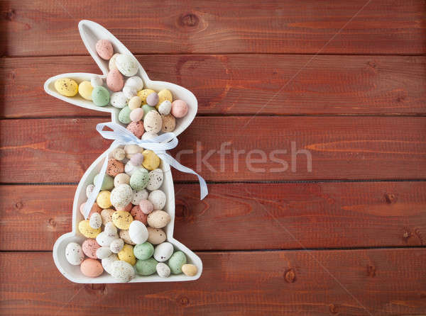 Chocolate eggs for easter Stock photo © BarbaraNeveu