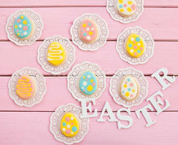 Colorful cookies with polka dots Stock photo © BarbaraNeveu