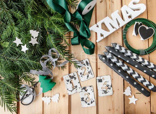 Crafting and Advent garland Stock photo © BarbaraNeveu