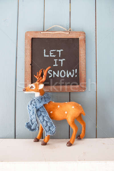 Little deer with scarf Stock photo © BarbaraNeveu