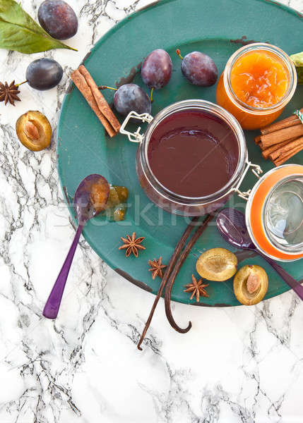 Homemade plum jam Stock photo © BarbaraNeveu