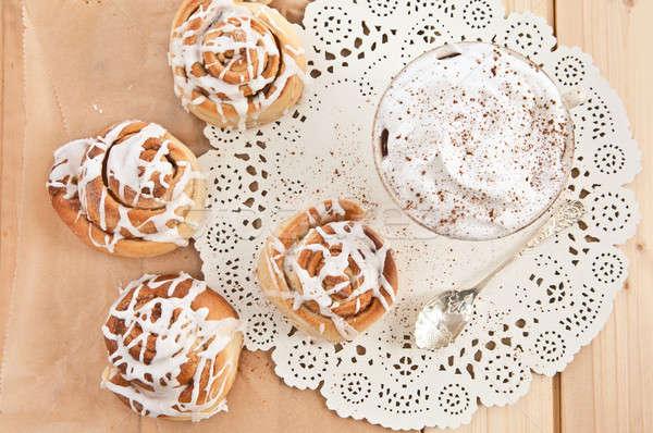 新鮮な シナモン 自家製 食品 ケーキ ストックフォト © BarbaraNeveu