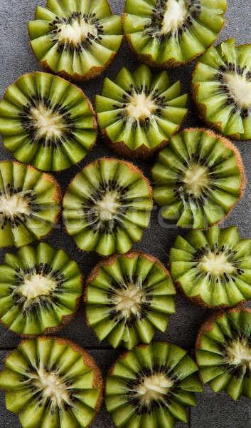 Vers kiwi donkere steen vruchten voedsel Stockfoto © BarbaraNeveu