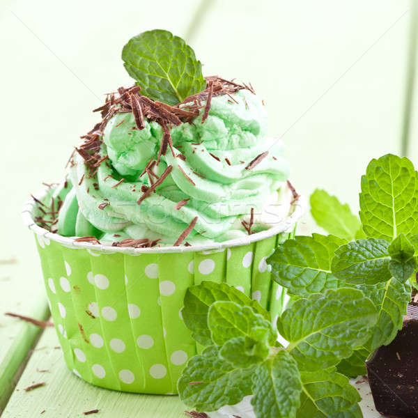 Frozen Yogurt with mint Stock photo © BarbaraNeveu