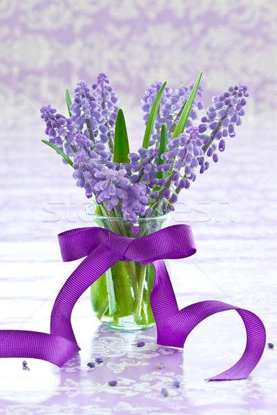 свежие мало ваза лента Purple Пасху Сток-фото © BarbaraNeveu
