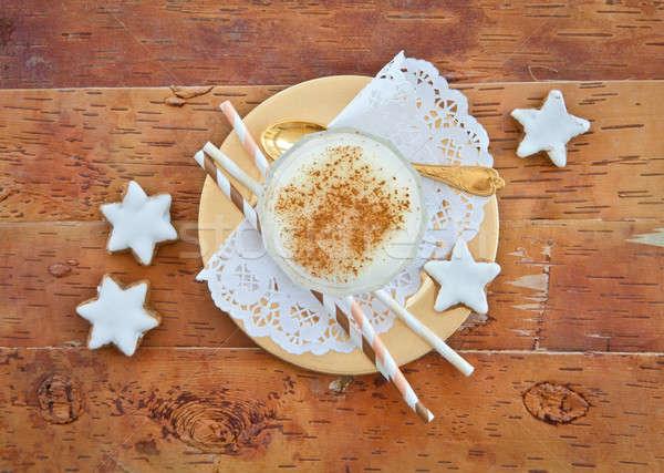 Eggnog with cinnamon Stock photo © BarbaraNeveu