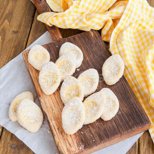 Vers poedersuiker Italiaans cookies voedsel eieren Stockfoto © BarbaraNeveu