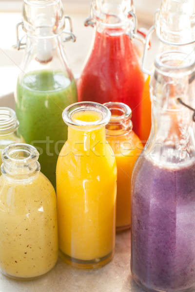 Variety of fresh smoothies Stock photo © BarbaraNeveu