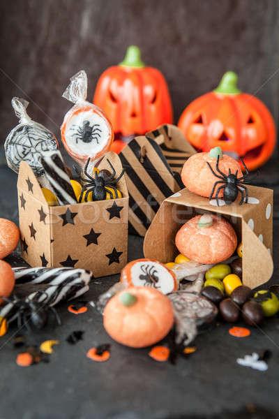 Stok fotoğraf: şekerleme · halloween · şeker · mutlu · gıda · sonbahar