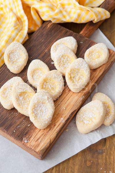 свежие сахарная пудра итальянский Cookies продовольствие яйца Сток-фото © BarbaraNeveu