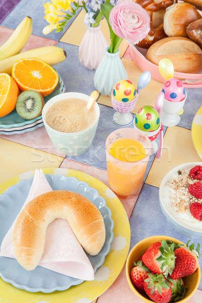 Cheerful table setting for breakfast Stock photo © BarbaraNeveu