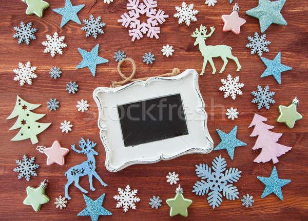Foto stock: Rústico · natal · decoração · alegre · decorações