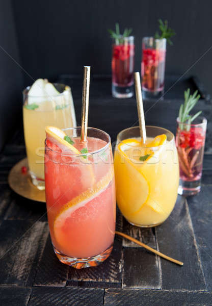Variety of fruity cocktails Stock photo © BarbaraNeveu