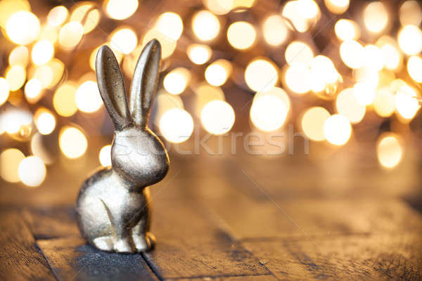Little golden easter bunny Stock photo © BarbaraNeveu