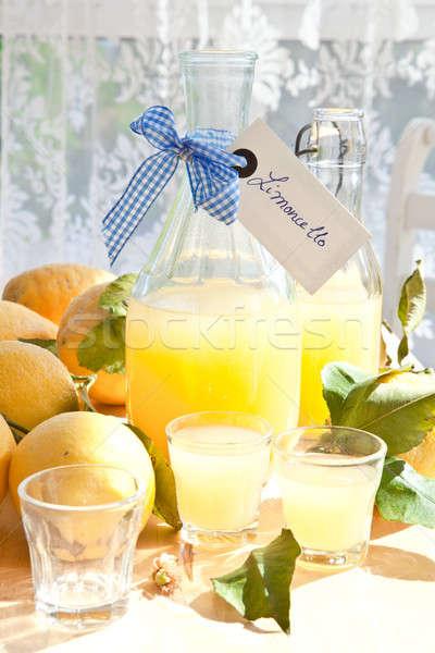 Homemade Limoncello Stock photo © BarbaraNeveu