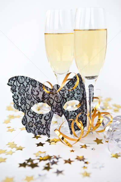Two glasses with champagne Stock photo © BarbaraNeveu
