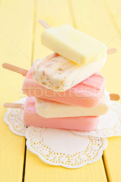 Variëteit bevroren vruchten voedsel zomer ijs Stockfoto © BarbaraNeveu
